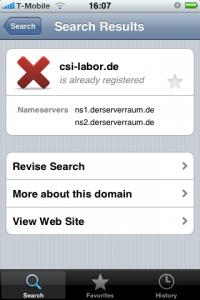 DomainScout Screenshot 2