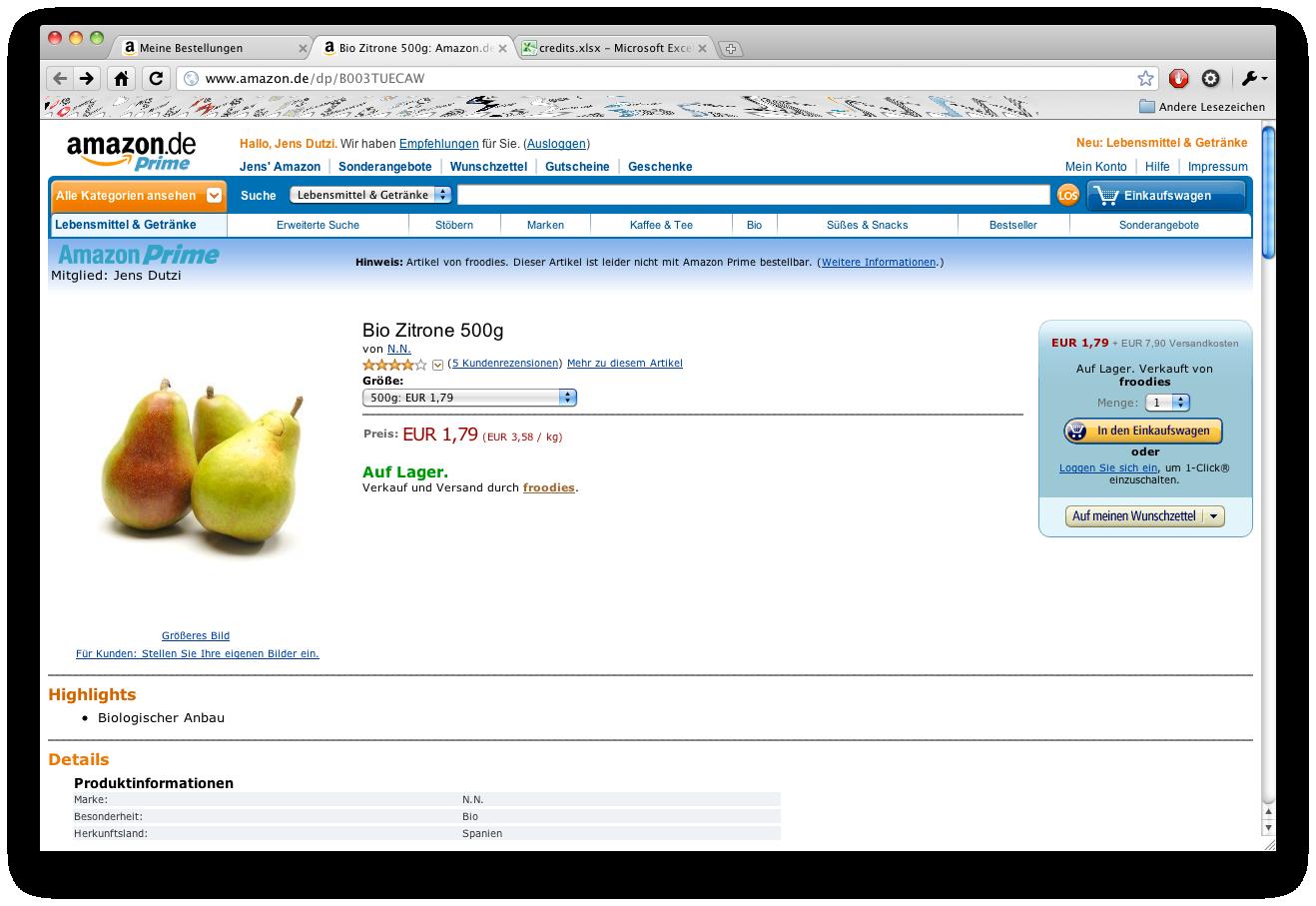 Amazon.de startet Lebensmittelshop — mit Kuriositäten