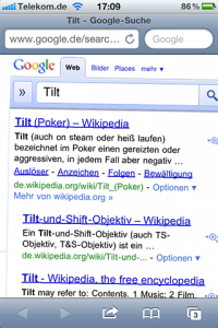 Screenshot: Google Suche (iPhone)