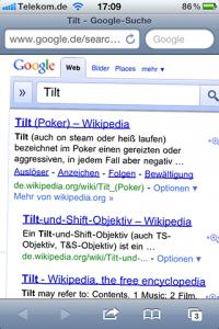 Screenshot: Google Suche (iPhone)