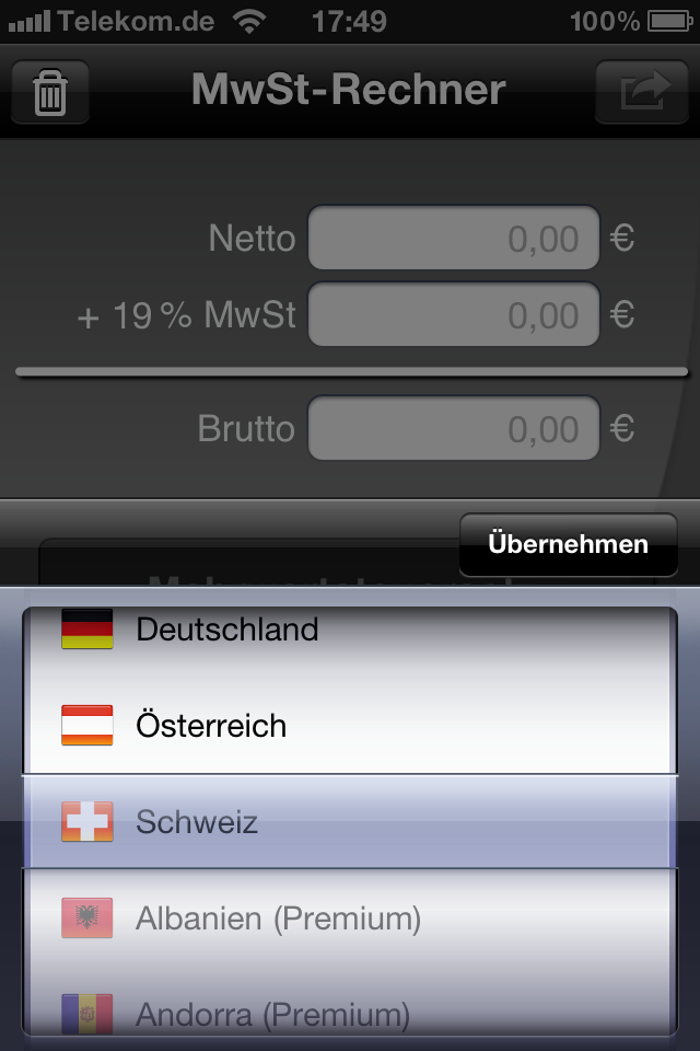 Mobiler MwSt-Rechner: Version 3.0 steht im AppStore bereit