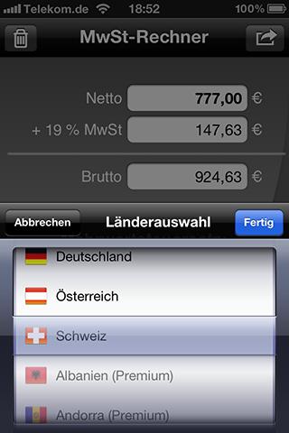 Mobiler MwSt-Rechner Version 3.7 veröffentlicht