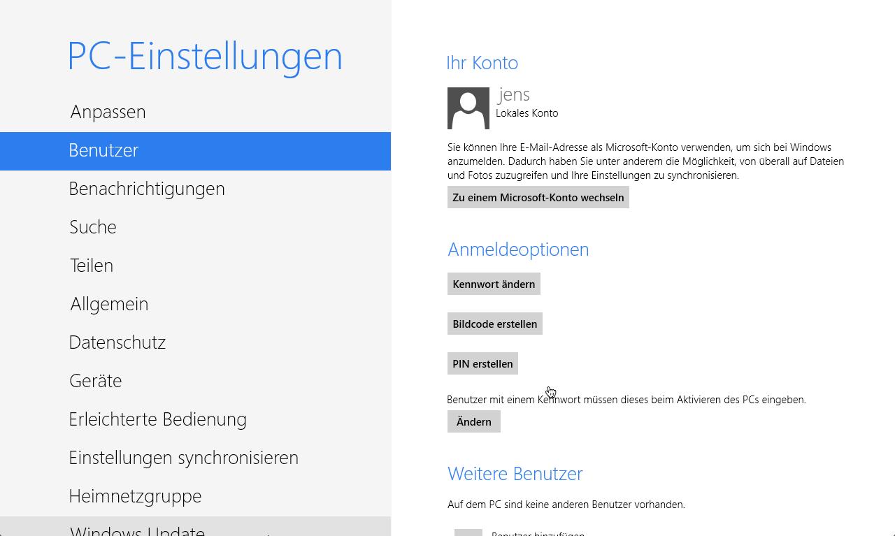 Windows 8 Anmeldung führt zu mehr übernommene Live Accounts?
