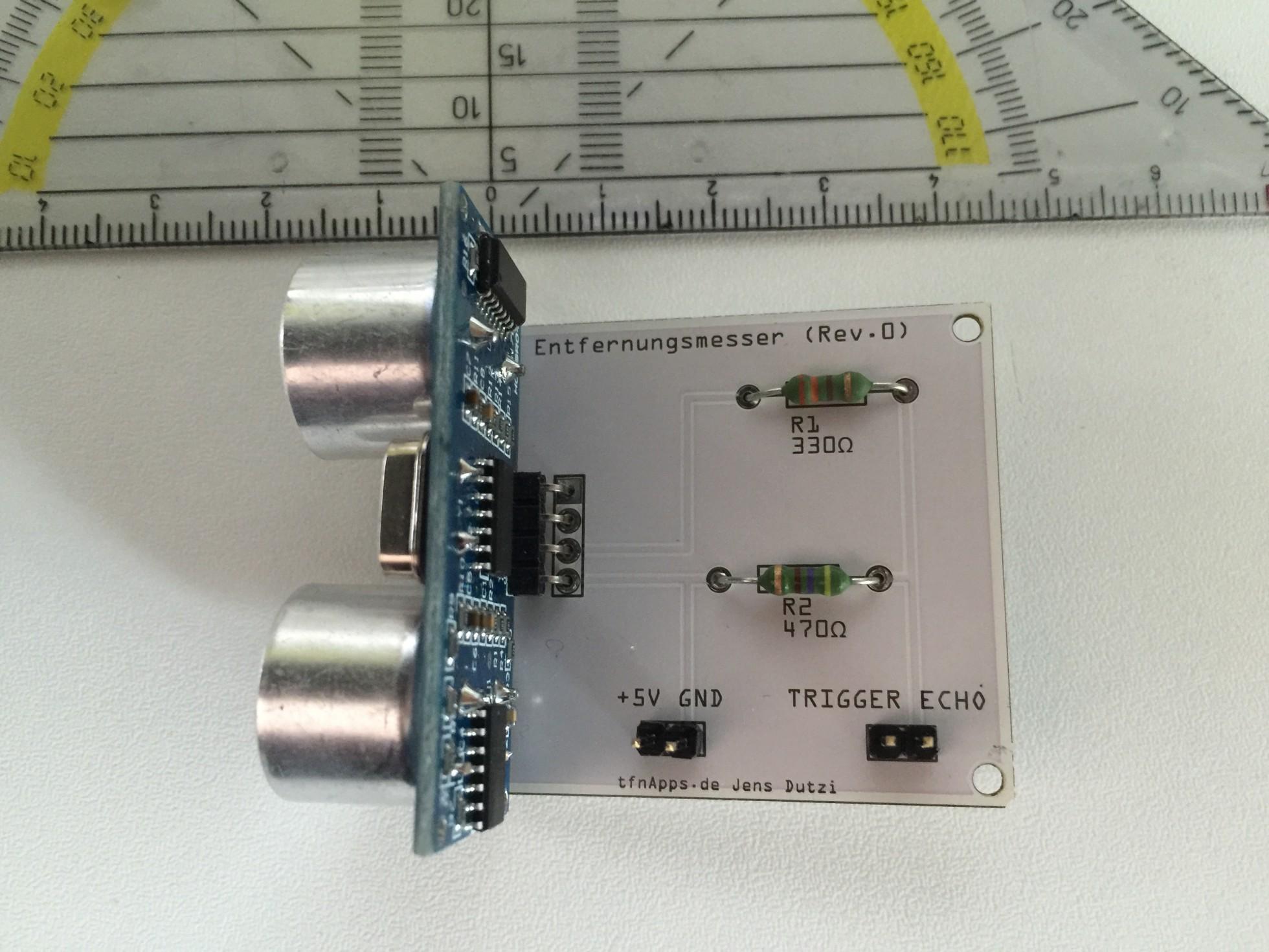 Raspberry-Pi Basteprojekt #1: Entfernungsmesser